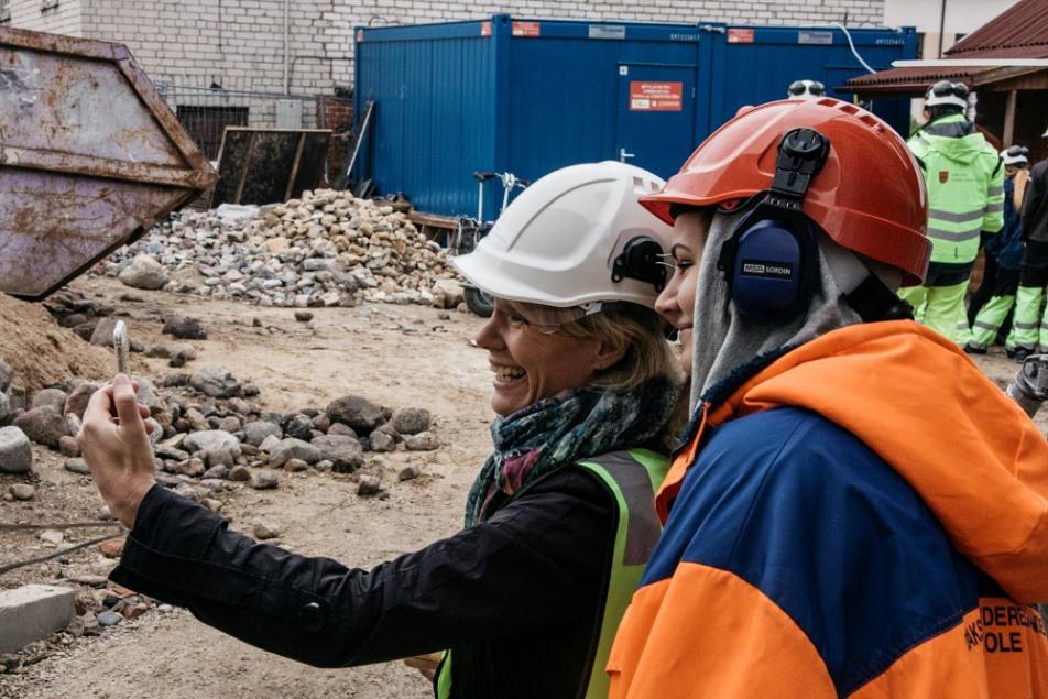 Zaļās sinagogas restaurācijā piedalījās  norveģu studenti un pasniedzēji